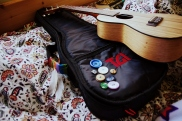 My ukulele and its button case